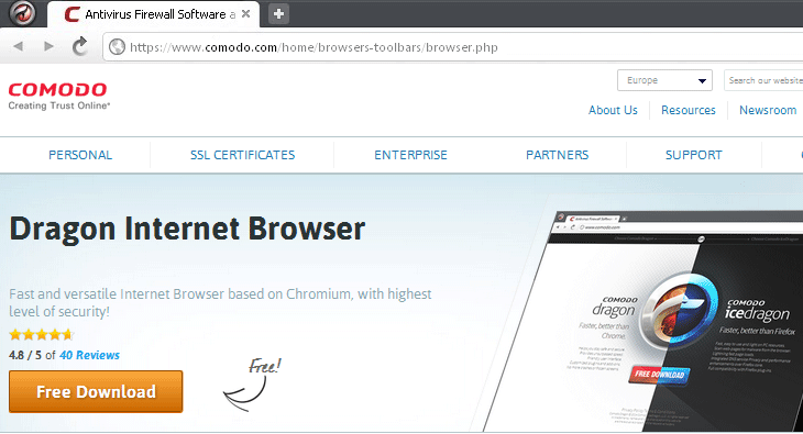 Comodo Dragon Internet Browser – альтернативный браузер Хрома